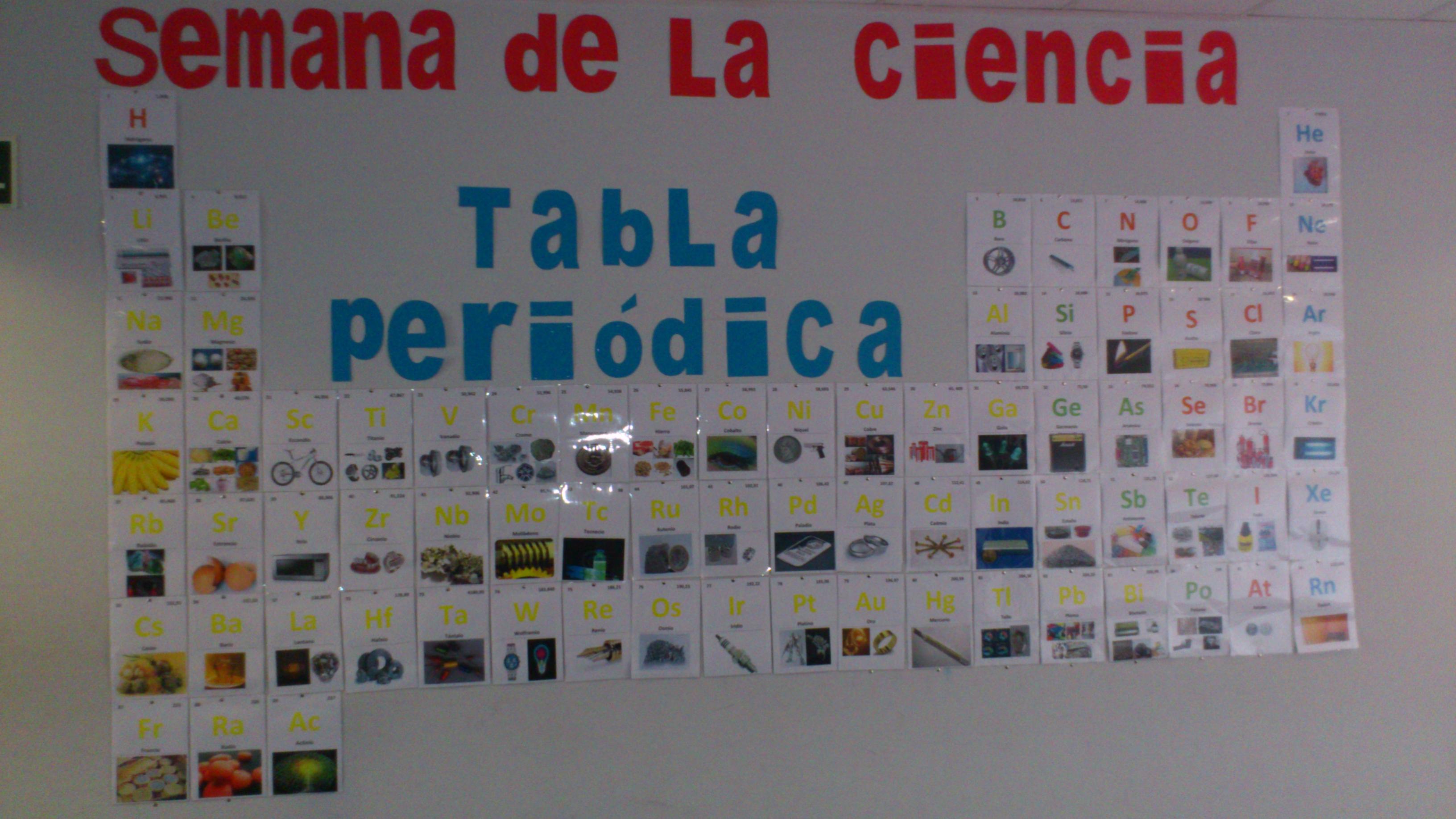 tabla peridica de los elementos - Tabla Periodica En Material Reciclable